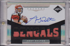 2011 Limited Andy Dalton RC Patch Auto # 31/299 2 color Bengals Autograph