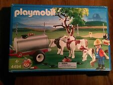 Playmobil 4494 Cow Pasture w/ tank trailer, Tree, Cows, Farmer & Accessories New