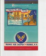 MATCHBOOK COVER Rome Air Depot Rome New York