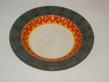 Cracker Barrel Folk Art Collection SAGE Rimmed Soup Chowder Bowl
