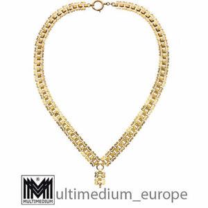 Historismus Doublé Halskette in Rotgold vergoldet Collier Uhrenkette 🌺🌺🌺🌺🌺