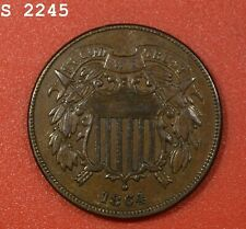 """1864 Two-Cent Piece """"AU+"""" *Free S/H After 1st Item*"""