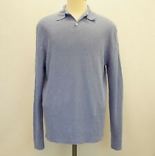 Polo Ralph Lauren Mens Sweater Linen Collared Pullover Periwinkle Blue L $225