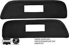 BLACK STITCH 2X DOOR CARD INSERT LEATHER COVERS FITS SAAB 900 CLASSIC 78-93