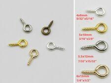 Tiny Screw Eye Pin Bail Nail Top Drill Hook Loop Clay Vial Resin Bead Wood Charm