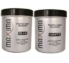 MAXIMA Rapid hair Bleach white & Blue Powder Dust Free Jar each 500 g COMBO DEAL