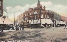 London Postcard. Young's Corner, Chiswick High Rd,Hounslow. Tram! Fry's.   1906