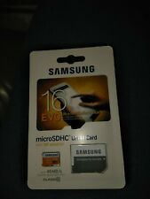 Samsung Evo 16GB UHS-1 Micro SDHC Card With SD Adapter New