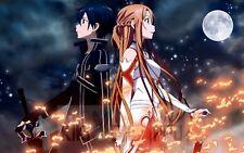 Poster A3 Sword Art Online Asuna Kirito Manga Anime Cartel 08