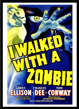 A3 - I Walked With A Zombie Movie Film wall Home Posters Retro Art #10