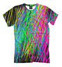 EDM neon tee - abstract rave t-shirt colorful clothing bright all over printed