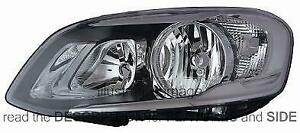 LHD Headlight Volvo Xc60 From 2013 Left 31358109 With Electric Motor