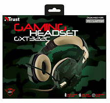 TRUST 20865 SUPER STYLISH GXT 322C HIGH QUALITY GAMING HEADSET IN COMBAT COLOURS