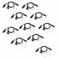 10Pcs Acoustic Air Tube PTT Wired Earpiece For Motorola XPR3300 DP2400 DP2600 ES