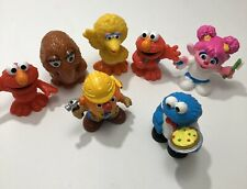 Hasbro Sesame Street Workshop Ernie Elmo Cookie Big Bird Abby Snufflepagus  PVC