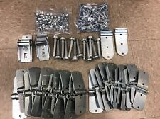 "44 Piece TODCO Style Trailer Roll Up Door Hinges - 1"" Rollers Kit & Hardware"
