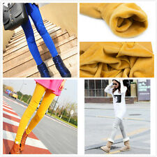 Girls/Woman Super Warm Leggings Cute Cat Print Padded Knees Two Layer Trousers