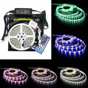 Waterproof 5M RGBW 60Leds/M 5050 SMD 300 LED Strip Light +IR Remote+DC 12V Power