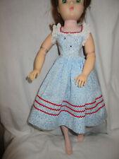 Vintage Madame Alexander Cissy 1957 Tagged Blue Cornflower Print Sun Dress