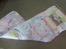Ivy Hill Home Kids Unicorn Castles Rainbows Reversible Twin Quilt Sham Set $120
