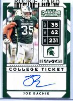 JOE BACHIE RC Rookie Auto 2020 Contenders DRAFT #188 PHILADELPHIA EAGLES