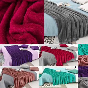 Luxury Teddy Fleece Bear Throw Soft Bed Plush Throws Double King Size