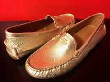 NEW Coach AMBER SZ 8.5 Flats Loafer Shoes Metallic Gold Leather Shoes Moccasins