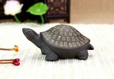 Chinese Yixing zisha tea pet Turtle the symbol of longevity with Baifu Pattern