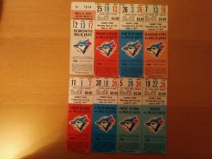 8 BLUE JAY TICKETS FROM 1977 (THEIR 1ST SEASON)