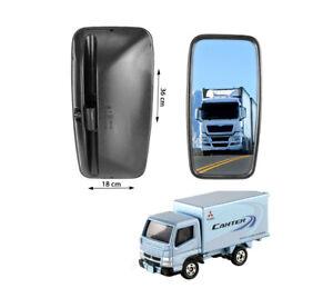 2x Miroir Mitsubishi CANTER FUSO Rétroviseur Pour Camion 36x18cm Gauche + Droite