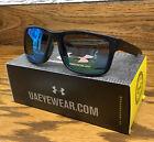 New Under Armour Assist Sunglasses Satin Black / Blue  Multiflection Lens