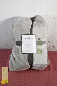 Threshold- Microplush Bed Blanket , Gray, Twin/Twin XL
