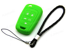 Green Silicone Case Cover For Chevrolet Camaro 5 Button Remote Flip Key CHEV5FGR