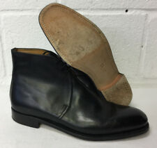 BLACK LEATHER GEORGE DRESS ANKLE BOOTS - Size: 13 Small , British Army Issue