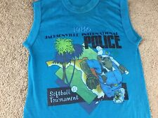 Vintage 1986 Jacksonville Police Softball Tournament Signal S Thin Cops baseball