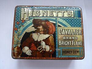 Fine Antique Hignett's Cavalier Brand Bright Flake Honey Dew Tobacco Tin