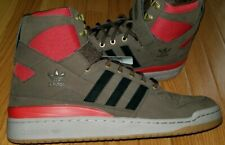 Adidas Forum HI OG Suede Brown Scarlet Gum High Top Mens Sneakers Size 13