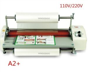 """17.5"""" A2 Roll Laminator Four Roller Hot Cold Laminating Machine For 442Mm Pap zo"""