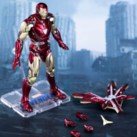 Marvel 7in Comic Iron Man mk85 With bracket Heroes Avengers Action Figure Toy