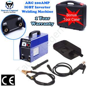 Portable ARC MMA 200Amp Stick Welder DC Inverter Welding Machine IGBT Carry Case