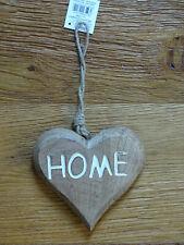 Herz Home Holz zum hängen Holzherz mit Aufschrift Wandhänger Dekoration Wohndeko