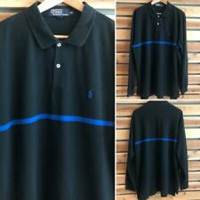 New listing VTG 90s Navy Blue Polo Ralph Lauren Pony Logo L/S Rugby Polo Shirt 2XL