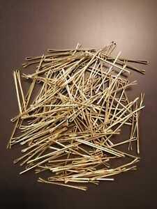 500 Stück Haarklemmen Haarklammern Haarnadeln  Gold 6 cm Salon Qualität