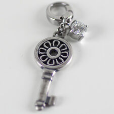 FOSSIL Charm Anhänger Bettelarmband Charms KEY TO HEART Zirkonia NEU JF87633040