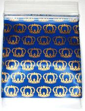 200 pezzi zip sacchetto PE Trasparente 50x50mm con la scritta di corone 50µ King