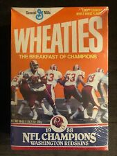 Sealed In Plastic Washington Redskins Super Bowl XXII Champions Wheaties Box