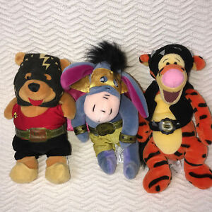 Winnie the Pooh Wrestler Bean Bags Lot of 3 Disney Gorgeous Eeyore Terror Tigger
