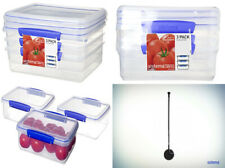 Sistema KLIP IT Food Storage Containers, Blue 2 Litre, Transparent/Blue