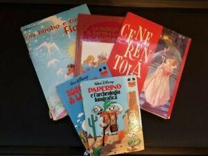 Lotto 5 libri fiabe per bambini e ragazzi vintage