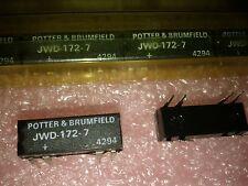 1x P&B  JWD-172-7 , JWD1727 , EM RELAY SPDT 0.5A 12VDC 500OHM TH